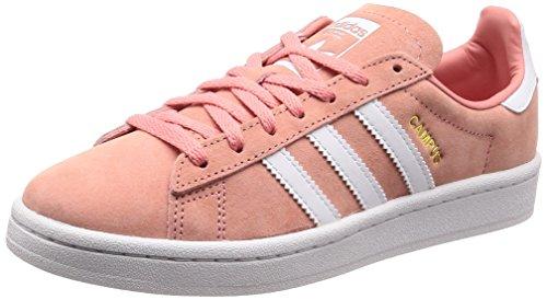Adidas Campus W, Scarpe da Ginnastica Donna, Rosa Tactile Rose F17/Ftwr Crystal White, 39 1/3 EU