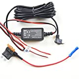 Hardwire Installation Kit + Fuse Tap for Dash Cam,Micro USB Port, Low Voltage Protection(10ft)