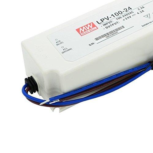 Kingled – Alimentatore MeanWell Serie LPV-100-24, 100W 24V Impermeabile IP67 Cod 1504
