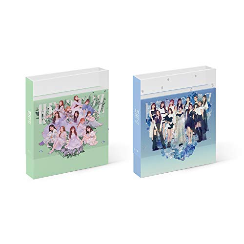IZ * One IZONE - Heart * IZ [Violeta + Sapphire ver) set (2e Mini-album) 2 CD+106 P fotobook + 2 Clear Sleeve + 28 P Mini Photobook + 4 fotokaarten + 2 pop-up kaarten + 2 Folded Posters + dubbelzijdige fotokaartset
