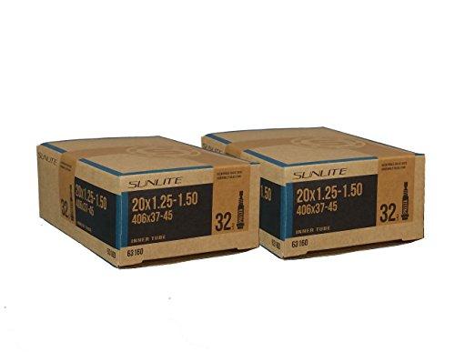 SUNLITE Tube 20 x 1.25-1.50 (406 x 32-37) 32mm Presta Valve, Bicycles