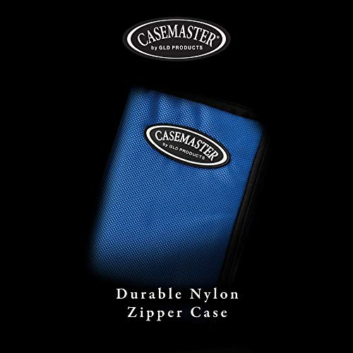 Casemaster Select Nylon Steel and Soft Tip Dart and Accessory Case, Holds 3 Darts, Foam Cushion Allows Flights to be Stored Open Without Being Crushed