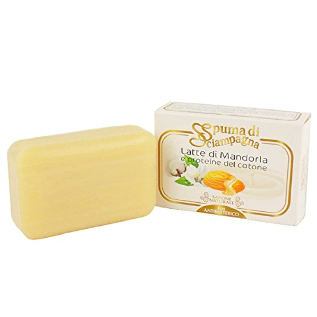 なだめるナット独占Spuma di Sciampagna (スプーマ ディ シャンパーニャ) ナチュラルソープ 化粧石けん 145g アーモンドの香り