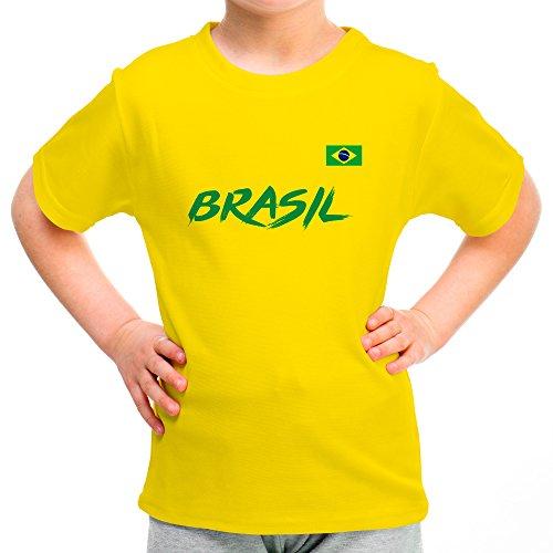 LolaPix Camiseta Brasil Personalizada con tu Nombre y...