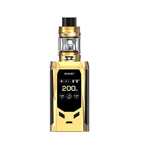 SMOK E-Zigarette, SMOK R-Kiss 200W-Kit mit TFV-Mini V2 Tank-2ml, kein Nikotin(Gold schwarz)