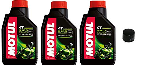 3 liter motorolie 7100 10W40 synthetisch + filter HF204