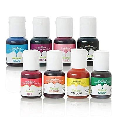 Liqua-Gel All Natural Food Color 8-Pack, 10 ml/ bottles