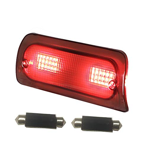 MOFORKIT Smoked LED Third 3rd Brake Light Extended Cab Only Lens Compatible with Chevy S10 GMC Sonoma 1994 to 2003 High Mount Stop