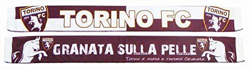 Marcello 55 dubbelzijdige satijnen sjaal FC Granata op de huid - officieel product