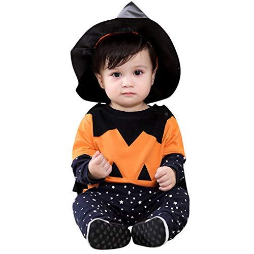 Julhold - Conjunto de 4 piezas de 1 a 5 años de algodón con sonrisa para recién nacido para bebés recién nacidos Naranja naranja 18 meses