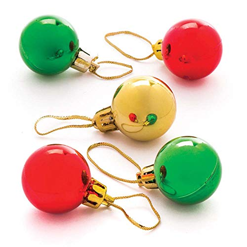 Baker Ross AR830 Mini Bauble, Christmas Arts and Crafts for Kids to Decorate and Personalise (Pack of 12), Assorted