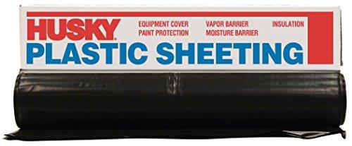 Husky CF0608B 8' X 100' 6 ML Tyco Polyethylene Black Plastic Sheeting