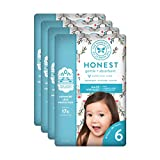 The Honest Company Baby Diapers with True Absorb Technology, Hey Rudolph, Size 6, 72 Count