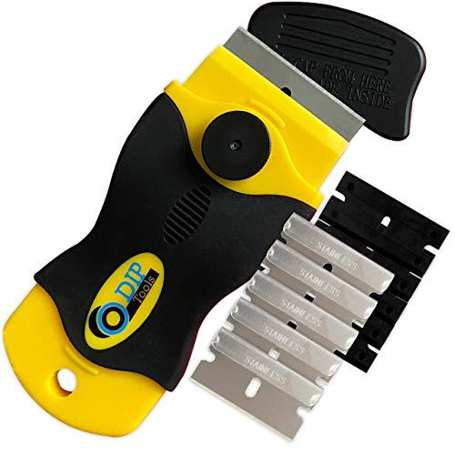 DIP-Tools Multifunktioneller 2 in 1 Ceranfeldschaber - Der Ideale und Praktische Helfer als Glasschaber oder als Klebereste Entferner