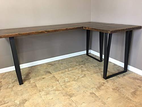 Desk, Wood L Shaped Office Desk, Reclaimed Wood Industrial Pipe Desk, Free Shipping