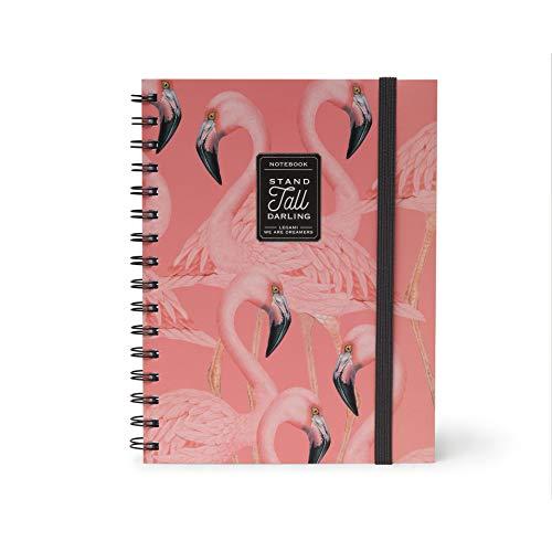 Legami A5NOTS0020 Quaderno con Spirale Foglio Bianco, Foglio A5, Flamingo