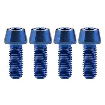 Wanyifa Titanium Ti M8 x15 20 25 30 35 40 45 50 60m 1.25mm Pitch Hex Allen Socket Head Bolt Screws Pack of 4  Taper Head M8x20mm Blue
