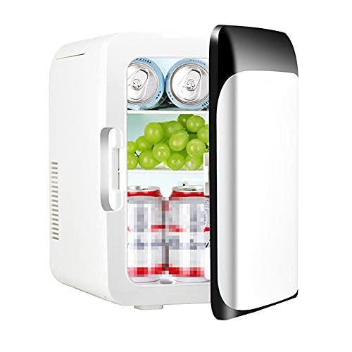 NOVHOME Mini Nevera Portatil Coche, Mini Refrigerador de 10L 12v 220v Hogar Coche Doble Uso Camping Picnic Refrigerador de RefrigeracióN y CalefaccióN de Alimentos (Mango Oculto)