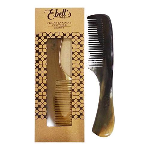 Kamm zum Entwirren von Haaren aus echtem Horn mit handgemachtem Griff