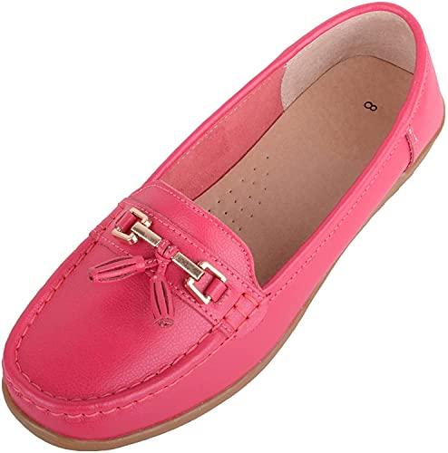 Mantimes Absolutne obuwie damskie wsuwane skórzane bardzo szerokie mokasyny na blacie letnie buty z paskiem i frędzlami Wildberry 8
