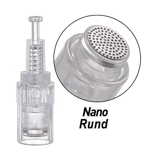 10 STÜCKE Rund Nano Pin Elektrischer Derma Pen-nadeln Einstellbar Needle Für Elektrische Microneedling Pen Dermarpen Nadelpatrone(Rund Gewinde)