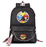 WANHONGYUE Assassination Classroom Anime Laptop Backpack 15.6' Mochilas Escolares Mochila Tipo Casual Bolsa para Mujer Niñas Black / 4