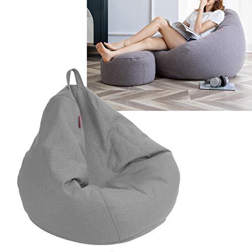 Zitzak, zitzakbank Comfortabel in gebruik Naadloos ontwerp met stootvoeg met ritssluiting Lichtgewicht voor kantoor voor thuis(Warm gray)