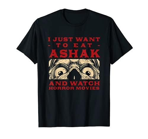 Comer Ashak y ver películas de terror albóndigas vegetales afganos Camiseta