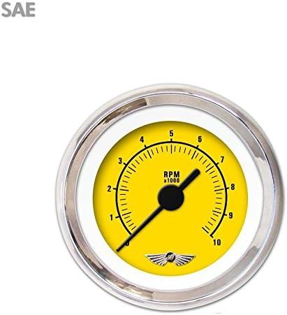Award-winning store Aurora New sales Instruments GAR162ZEAIABAC Rider Yellow Gaug Tachometer