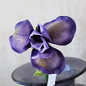 Artificial and Dried Flower Artificial Irish Iris Orchid Flower Branch Spring Wedding Decor Home Table Decoration Flores Fake Irish Flowers Fleurs Artificie