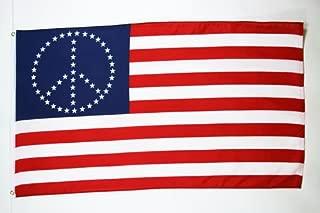 AZ FLAG USA Peace Flag 3' x 5' - US - American Flags 90 x 150 cm - Banner 3x5 ft