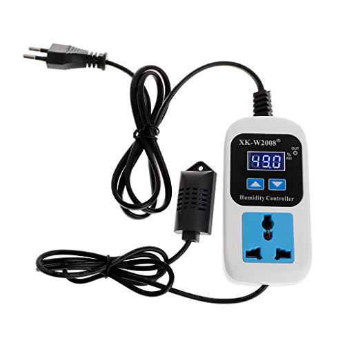 Qiman 110-220 V 00% ~ 99% RH Digitaler Feuchteregler Feuchtigkeitsfeuchtigkeitssteuerung Schaltsteckdose Steckdose Einlass EU-Stecker Hygrometer Hygrostat