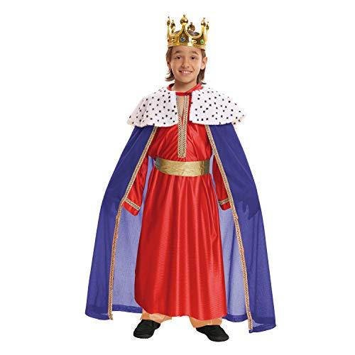 VIVING-Costume Re Mago rojo7-9Anni
