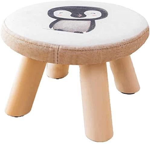 N\A Paso Taburete de Madera tapizada Puf Puf bajo sofá de la Tela heces pequeñas for los Zapatos de Wearin (Color : -, Size : -)