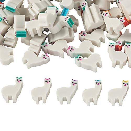 Fun Express Mini Llama Erasers | 300 Count | Kids Birthday Party, Themed Toys Supplies, Party Favors for Kids, Classroom Reward, School Supply, Small Gift