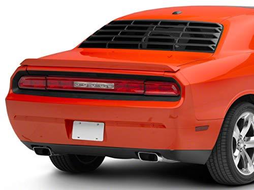 MP Concepts Rear Window Louvers; Matte Black for Dodge Challenger 2008-2020
