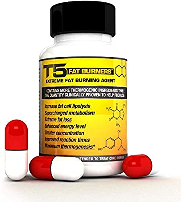 Fat Burners + 5 Free T5 Fat Burner Patches : Scientifically Backed Diet/Weight Loss Pills (Each Bottle 1 Month Supply)
