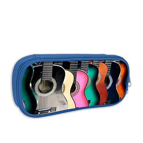 IUBBKI Colorful Guitars Classroom Personality Stationery Pouch Bag with Zipper