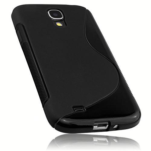 mumbi Hülle kompatibel mit Samsung Galaxy S4 Handy Case Handyhülle, schwarz