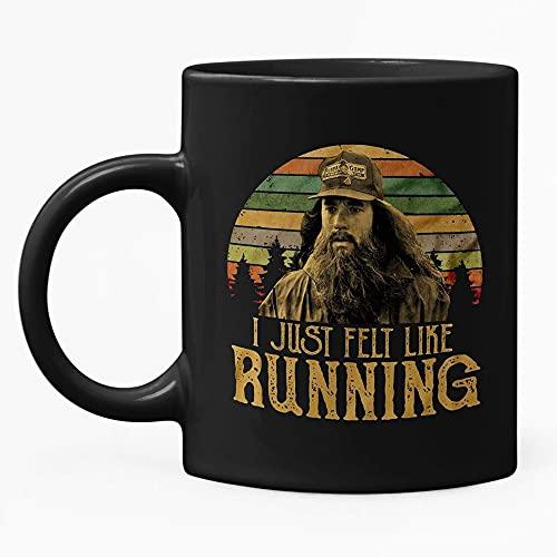Forrest Gump I Just Felt Like Running - Taza de café retro (11 oz)