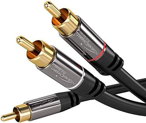 KabelDirekt 3m Cable RCA Coaxial, (Audio Estéreo Digital, 1 Conector RCA Macho...