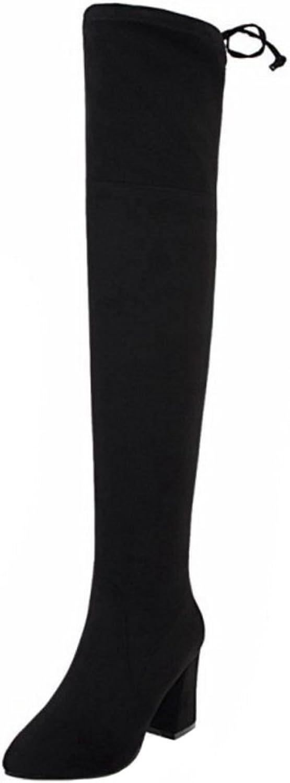 CarziCuzin Women Boots Zipper Over Knee