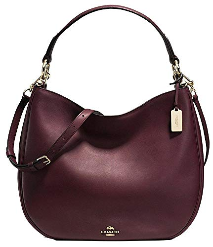 COACH NOMAD HOBO IN GLOVETANNED LEATHER F36026, Burgundy