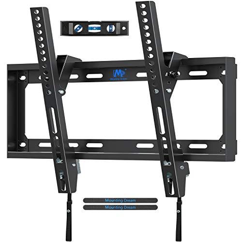 Mounting Dream TV Wandhalterung Neigbar Fernseher Wandhalterung für die misten 66cm-140cm (26-55 Zoll) LED, LCD, OLED und Plasma Flach Bildschirm TVs mit VESA 75×75-400x400mm bis zu 40kg, MD2868-M-03