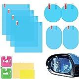 8 piezas Película Impermeable Retrovisor Coche,Película impermeable para espejo retrovisor de coche,Película Impermeable Antideslumbrante y Antiniebla,Película antivaho