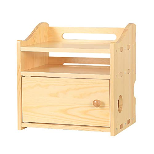 Xyanzi-Shelves Router Storage Box Multifunction Wireless WiFi Router Set Top Box Shelf Solid Wood, Multi-Layer (Size : 30x23x30cm)