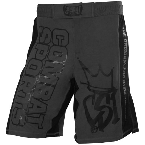 Combat Sports Training MMA Boardshorts, 34-Inch, Grey/Black