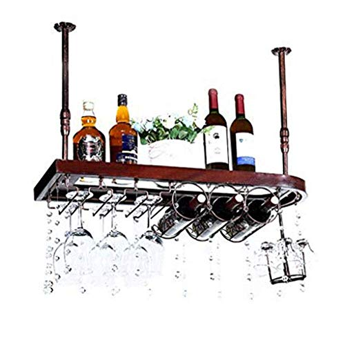 WSJ - Botellero de madera para botellas de vino (60 y 28 cm, 60 y 28 cm)