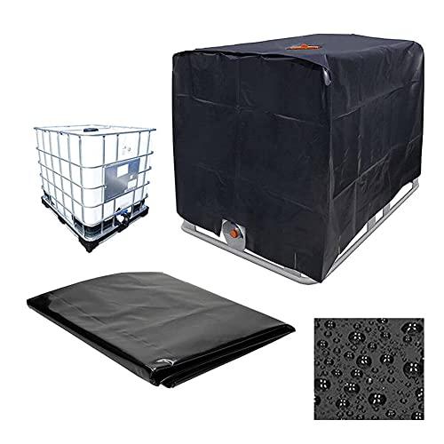 Bâche de réservoir d'eau IBC 1000L,Bâche Couverture De Protection en Tissu Oxford 210D pour Tissu Anti-UV Anti-poussière Anti-Pluie pour conteneurs IBC(120x100x116cm)