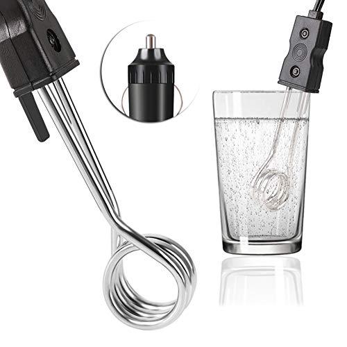 RUNGAO - Calentador de Inmersión de Coche Portátil (12 V, para Té, café, Agua y Calefacción Eléctrica)